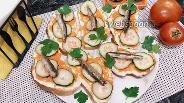 Фото рецепта Бутерброды с варёной морковью и шпротами