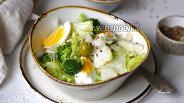Фото рецепта Салат Грация с брокколи и цветной капустой