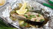 Фото рецепта Кижуч с картофелем в фольге в духовке