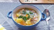 Фото рецепта Щи со свининой и квашенной капустой