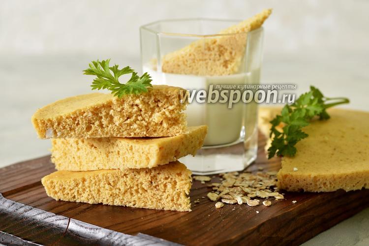Фото Овсяный хлеб в микроволновке
