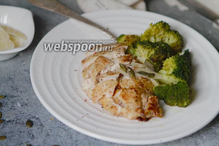 Фото Жареная кето-курица с брокколи и сливочным маслом
