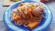 Фото рецепта Острые куриные окорочка с овощами и сладким перцем