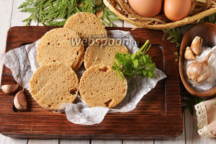 Фото Хлеб с чесноком в микроволновке