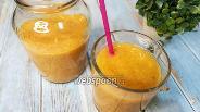 Фото рецепта Смузи из тыквы, хурмы и банана