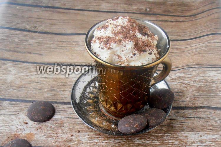 Фото Сливочный десерт с тёртым шоколадом