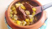 Фото рецепта Индюшиная печень с овощами в горшочке