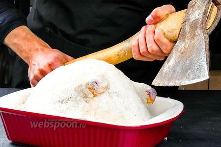 Курица в соляной шубе. Видео видео рецепт