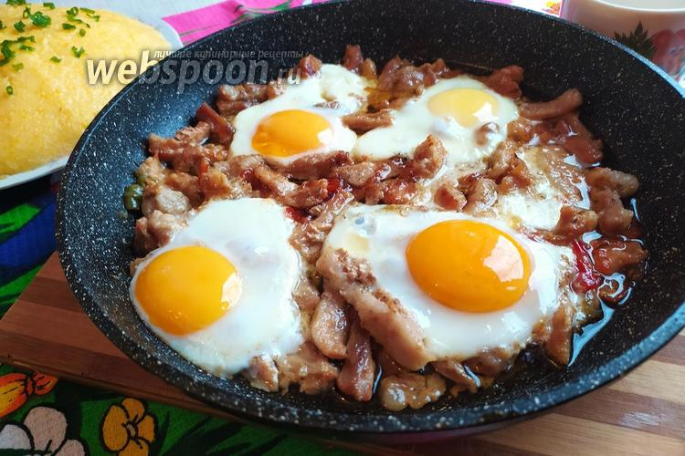 Фото Мясо с острым перцем и яйцом