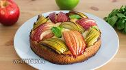 Фото рецепта Французский йогуртовый яблочный пирог