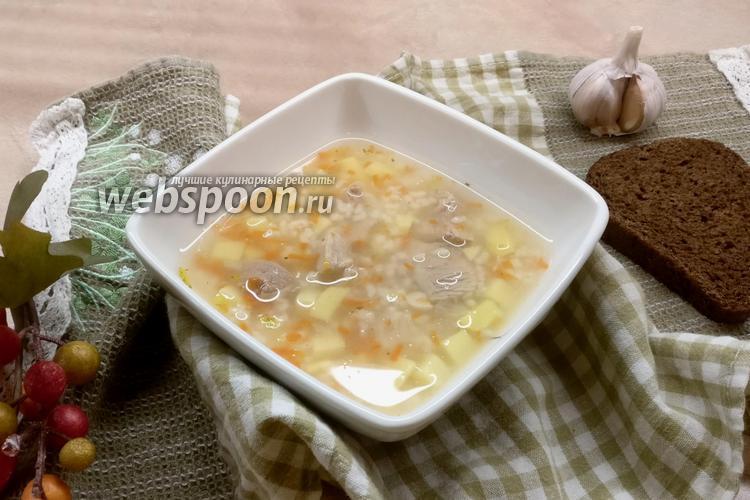 Фото Суп из бедра индейки с овощами и рисом