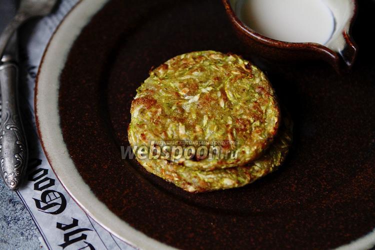 Фото Диетические оладьи из кабачков со сливками и псиллиумом