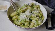 Фото рецепта Макароны с зелёным соусом