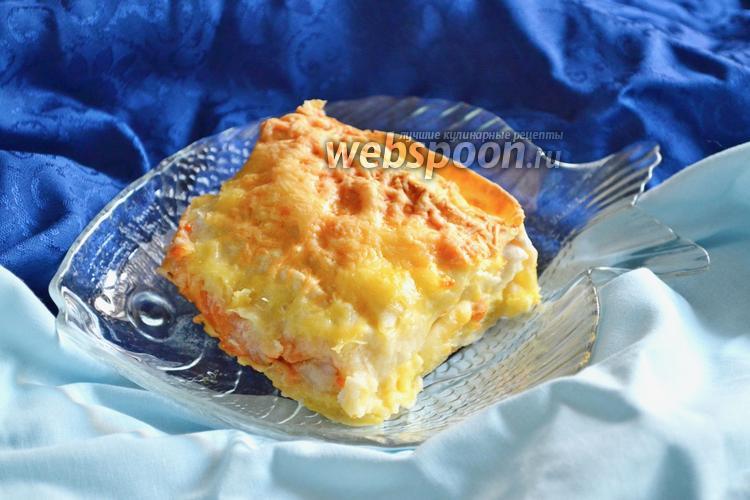 Фото Пангасиус под сыром запечённый в лаваше