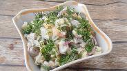 Фото рецепта Салат из куриных сердечек и цветной капусты