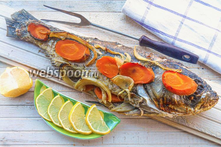 Фото Толстолобик с овощами в духовке