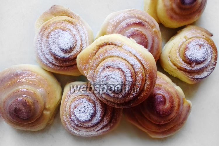Фото Домашние булочки синнабон без сливочного масла