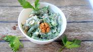 Фото рецепта Салат из зелёной фасоли с постным майонезом