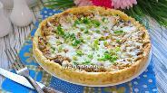 Фото рецепта Пирог на картофельном тесте с грибами и курицей