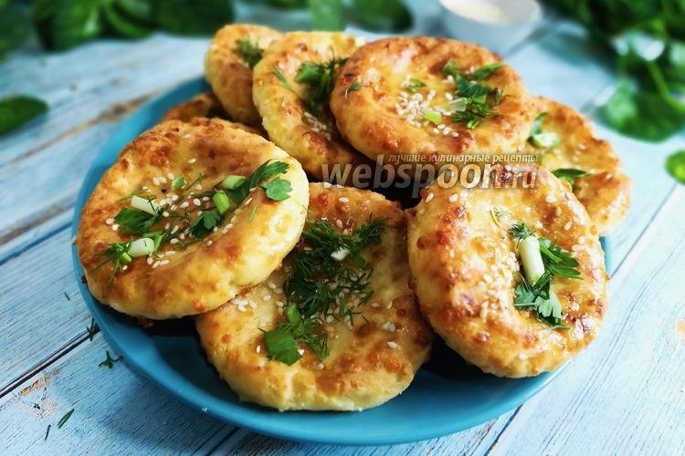 Фото Сырники с сыром и зеленью в духовке