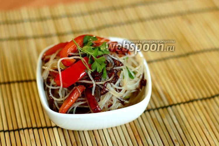 Фото Рисовая лапша с овощами