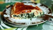 Фото рецепта Слоёный пирог со шпинатом