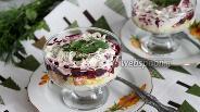 Фото рецепта Шуба порционная с зеленью