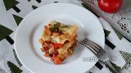 Фото рецепта Лазанья с фаршем и овощным рагу