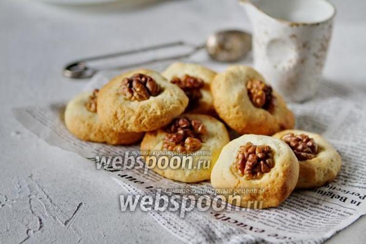 Фото Миндальное печенье на сметане