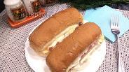 Фото рецепта Хот-дог по-новому с двумя сосисками