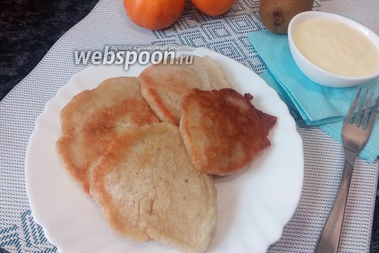 Фото Пышные оладьи без яиц и молока