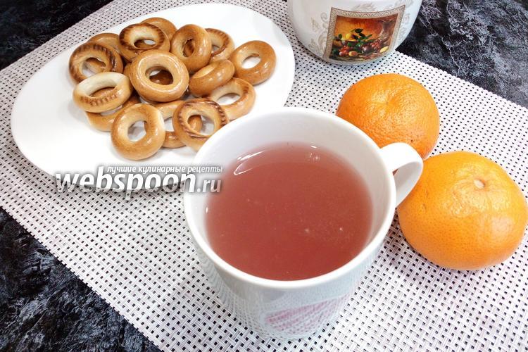 Фото Клубнично-мандариновый кисель