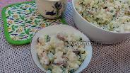 Фото рецепта Салат с мидиями и рисом