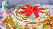 Фото рецепта Блинный торт с сёмгой