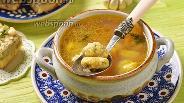 Фото рецепта Суп с чесночными галушками
