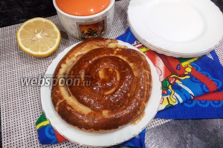 Фото «Улитка» из слоёного теста с сахаром и корицей