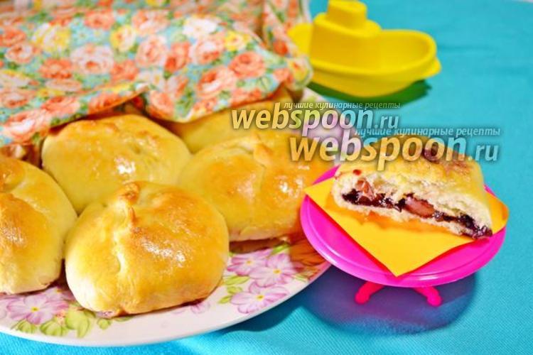 Фото Булочки «Дунай» с яблоками и вареньем