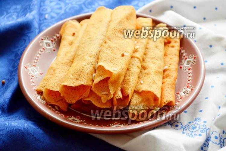 Фото Безглютеновые рисово-гречневые блины