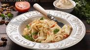 Фото рецепта Лапша с ореховым соусом