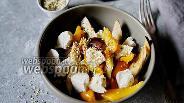 Фото рецепта Салат из печёных овощей с брынзой