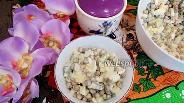 Фото рецепта Салат с огурцом, зелёным горошком и яйцами