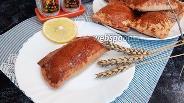 Фото рецепта Слойки с куриным окорочком и сыром