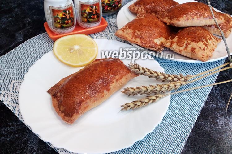 Фото Слойки с куриным окорочком и сыром