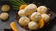 Фото рецепта Апельсиновое печенье с трещинками