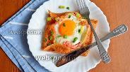 Фото рецепта Бретонская галета с яйцом, колбасой и сыром