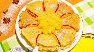 Фото рецепта Кокосовые блины с ананасами