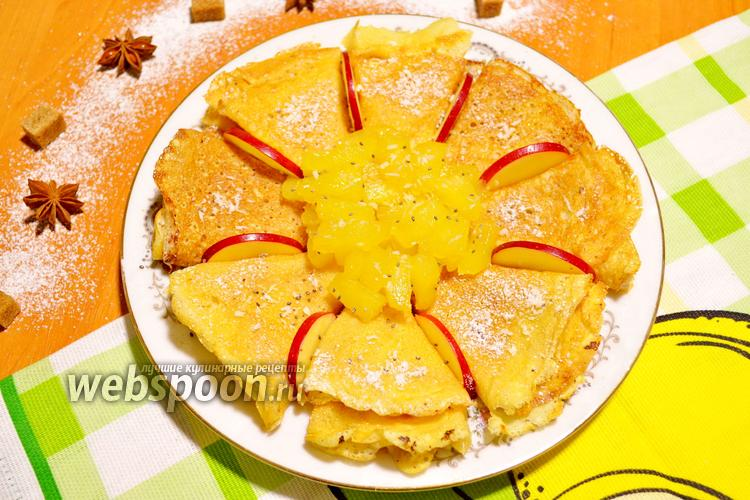 Фото Кокосовые блины с ананасами