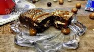 Фото рецепта Брауни с арахисовой пастой и карамелью
