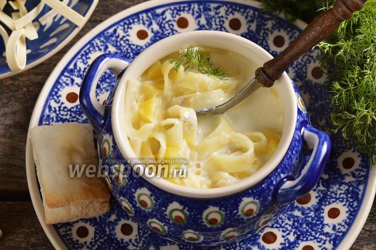 Фото Молочный суп с лапшой