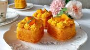 Фото рецепта Тыквенные кексы с кремом